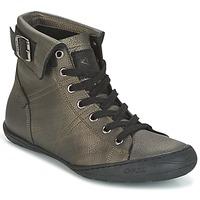 Schuhe Damen Sneaker High PLDM by Palladium GLADYS DST Grau / Gold