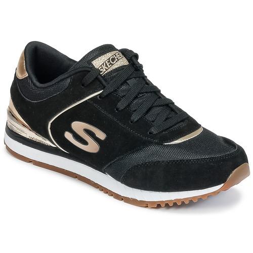 Skechers SUNLITE Schwarz / Goldfarben  Schuhe Sneaker Low Damen 64,95