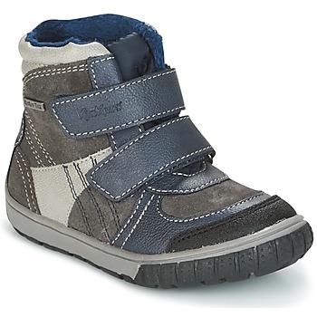 Schuhe Jungen Schneestiefel Kickers SITROUILLE Grau / Blau