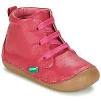 Schuhe Mädchen Boots Kickers SONICE Fuchsienrot