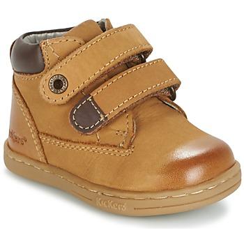 Schuhe Jungen Boots Kickers TACKEASY Camel