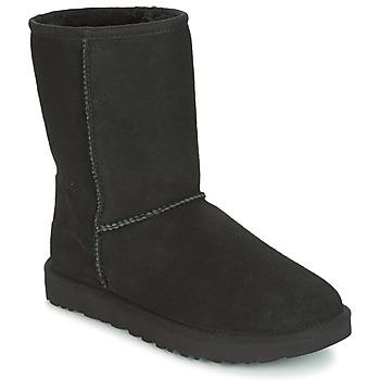 Schuhe Damen Boots UGG CLASSIC SHORT II Schwarz