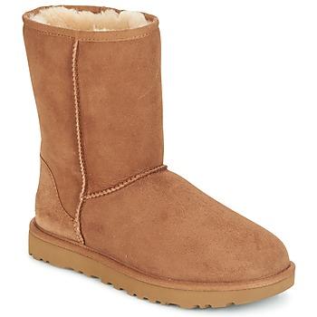 Schuhe Damen Boots UGG CLASSIC SHORT II Camel
