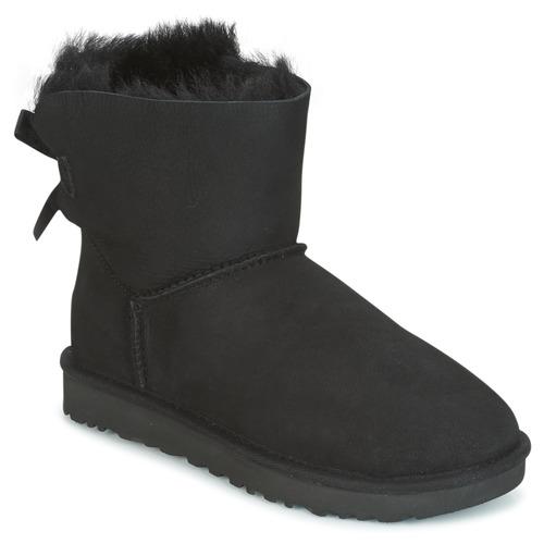Schuhe Damen Boots UGG MINI BAILEY BOW II Schwarz