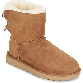 Schuhe Damen Boots UGG MINI BAILEY BOW II Camel