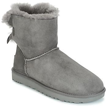 Schuhe Damen Boots UGG MINI BAILEY BOW II Grau