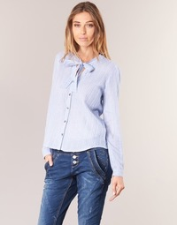 Kleidung Damen Hemden Cream CAMA STRIPED SHIRT Blau