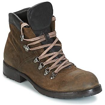 Schuhe Herren Boots Moma MARTENS CORDA/ COSNA TESTA DI MORO Kaki / Braun