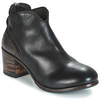 Schuhe Damen Boots Moma CUSNA NERO/ TALON TACO MIX, ARRIRE AFRICA Schwarz / Silbern