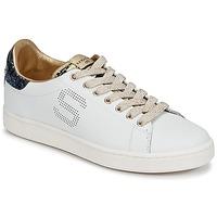 Schuhe Damen Sneaker Low Serafini J.CONNORS Weiss / Blau / Goldfarben