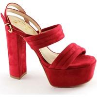 Schuhe Damen Sandalen / Sandaletten Divine Follie DIVINE MADNESS 8857 rot Fersenriemen Sandalen Plateau Rosso