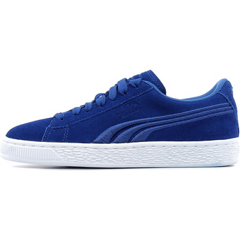 Schuhe Kinder Sneaker Low Puma Suede Classic Badge Jr Blau