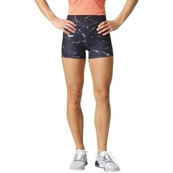 Kleidung Damen Shorts / Bermudas adidas Originals Marble Highwaisted Shorts Schwarz