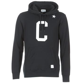 Kleidung Herren Sweatshirts Converse CONVERSE ESSENTIALS COLLEGIATE STAR PULLOVER HOODIE Schwarz