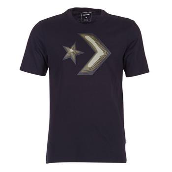 Kleidung Herren T-Shirts Converse DIMENSIONAL LAYER STAR CHEVRON TEE Schwarz