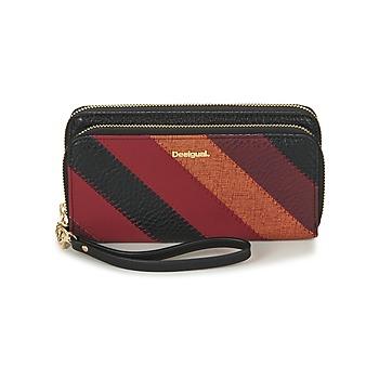 Taschen Damen Portemonnaie Desigual MONE_JUNO TWO LEVELS Schwarz / Rot