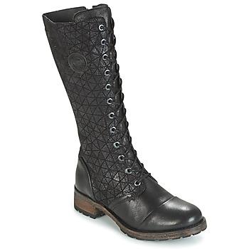 Schuhe Damen Klassische Stiefel Pataugas DOLCE Schwarz