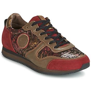 Schuhe Damen Sneaker Low Pataugas IDOL Rot / Braun