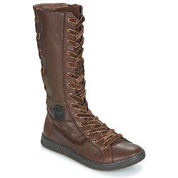 Schuhe Damen Klassische Stiefel Pataugas JINA Braun