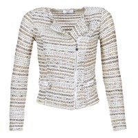 Kleidung Damen Jacken / Blazers Le Temps des Cerises MIRABEAU Beige / Weiss