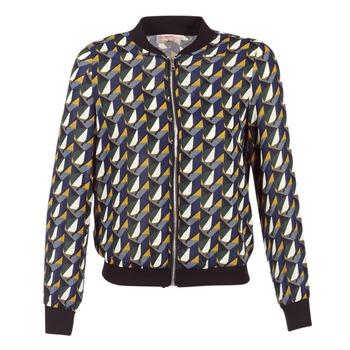 Kleidung Damen Jacken Moony Mood HARIO Schwarz / Blau / Gelb