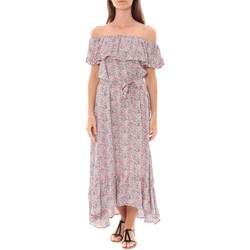 Kleidung Damen Maxikleider By La Vitrine Robe Longue Care  of you Fleuri Rose F50035 Rose