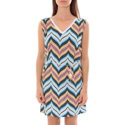 Kleidung Damen Kurze Kleider By La Vitrine Robe Lili & Lala  Bleu Blau