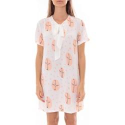 Kleidung Damen Kurze Kleider By La Vitrine Robe Tunique Blanc 4283-583 Weiss