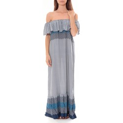 Kleidung Damen Maxikleider By La Vitrine Robe Longue Care  of you  Bleu F50055 Blau