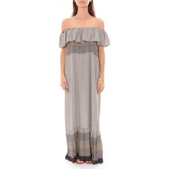 Kleidung Damen Maxikleider By La Vitrine Robe Longue Care  of you Noir F50055 Schwarz