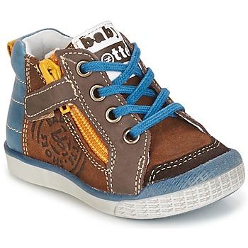 Schuhe Jungen Sneaker High Babybotte AKRO Braun / Blau