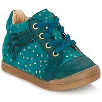 Schuhe Mädchen Sneaker High Babybotte FALSIFI Türkis / Gold