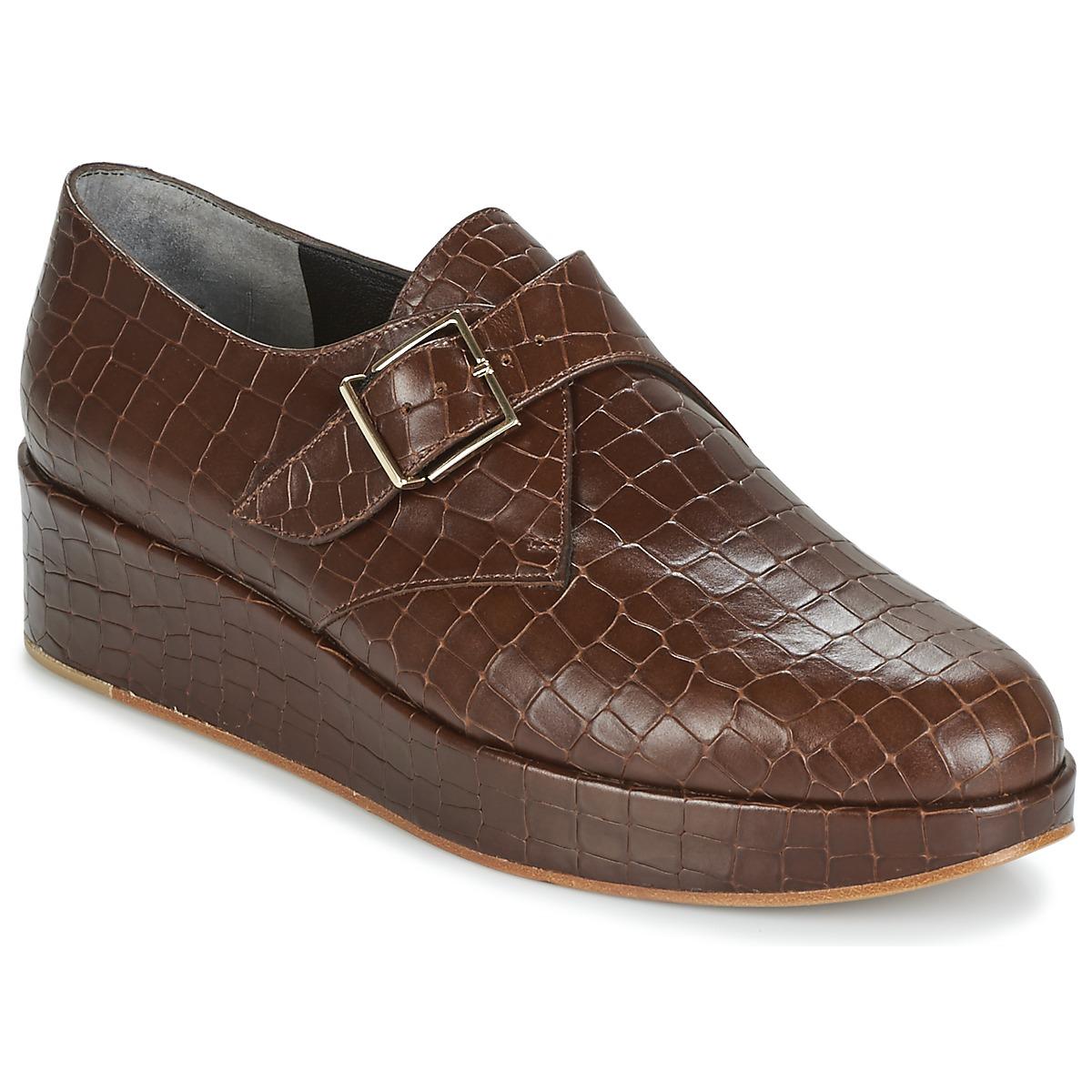 Robert Clergerie NONKA-VCOCCO-CHOCOLAT Braun - Kostenloser Versand bei Spartoode ! - Schuhe Derby-Schuhe Damen 269,40 €