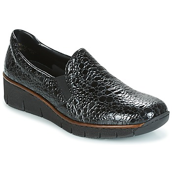 Schuhe Damen Slip on Rieker LLOYD Schwarz