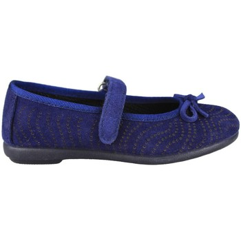 Schuhe Kinder Ballerinas Vulladi SERRAJE MANOLETINA VELCRO BLUE