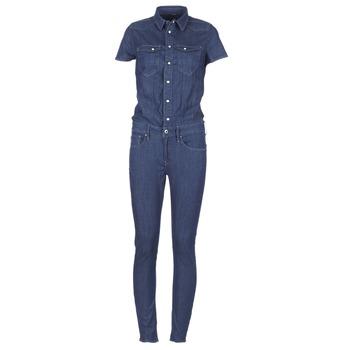 Kleidung Damen Overalls / Latzhosen G-Star Raw TACOMA SLIM JUMPSUIT WMN SS blau