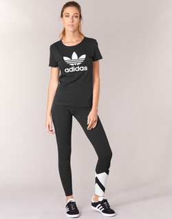 Kleidung Damen Leggings adidas Originals EQT LEGGINGS Schwarz / Weiss
