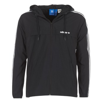 Kleidung Herren Windjacken adidas Originals 3 STRIPED WB Schwarz