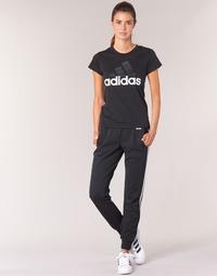 Kleidung Damen Jogginghosen adidas Originals ESS 3S PANT CH Schwarz