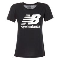Kleidung Damen T-Shirts New Balance NB LOGO T Schwarz / Weiss