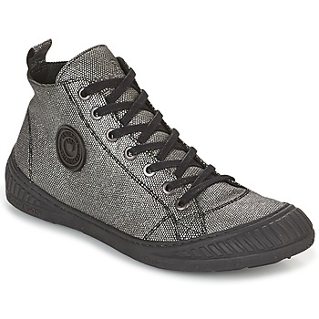 Schuhe Damen Sneaker High Pataugas ROCKER Silbern