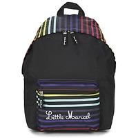 Taschen Damen Rucksäcke Little Marcel SATURNIN Schwarz / Multifarben