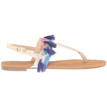Schuhe Damen Sandalen / Sandaletten Cassis Côte d'Azur Ella entre doigt bridées et Pompons Beige Beige