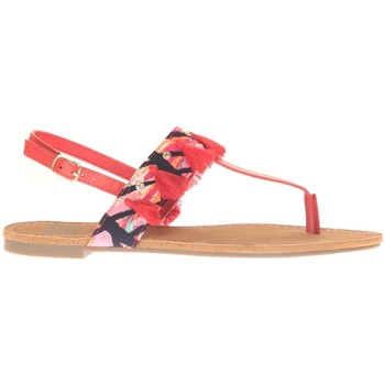 Schuhe Damen Sandalen / Sandaletten Cassis Côte d'Azur Ella entre doigt bridées et Pompons Red Rot