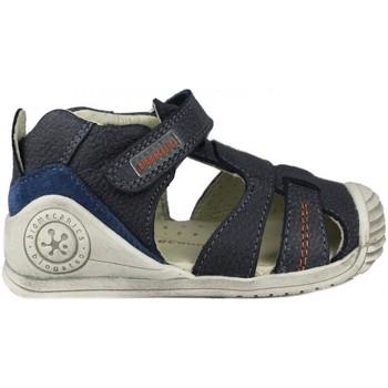Schuhe Kinder Sandalen / Sandaletten Biomecanics SANDALIA CERRADA PIEL BLUE