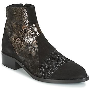 Schuhe Damen Boots Philippe Morvan SILKO V1 CR VEL NOIR Schwarz
