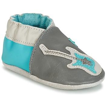 Schuhe Jungen Babyschuhe Robeez SUPERSTAR ROCK Blau / Grau