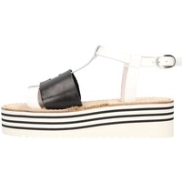 Schuhe Damen Sandalen / Sandaletten Zoe Cu50/02 Weiß / Schwarz