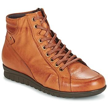 Schuhe Damen Sneaker High Pitillos 2631 Cognac