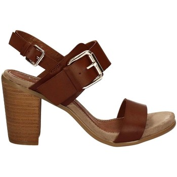 Schuhe Damen Sandalen / Sandaletten Café Noir LB912 High heeled sandals Frauen Brown Brown